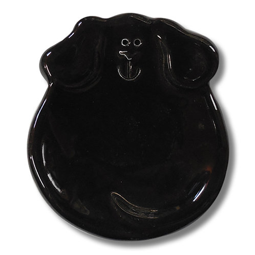 """3"""" Mini Dog Dish: Solid Black"""