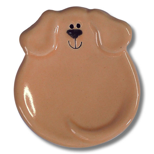 "3"" Mini Dog Dish: Solid Tan"