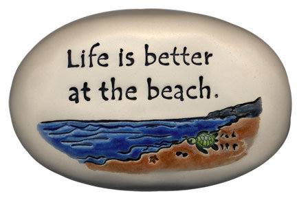 "3.5"" x 5"" x 1 ""Life is better at the beach."""