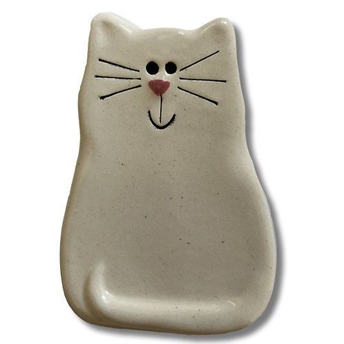 "3"" x 2"" Cat Magnet: Solid White"