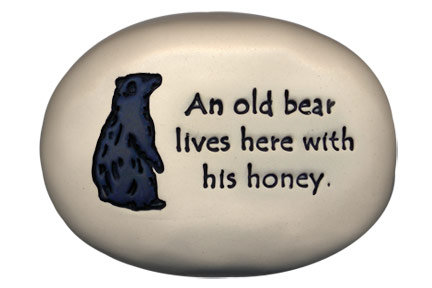 "3.5""x5""x1  ""An old bear lives here with his honey."""