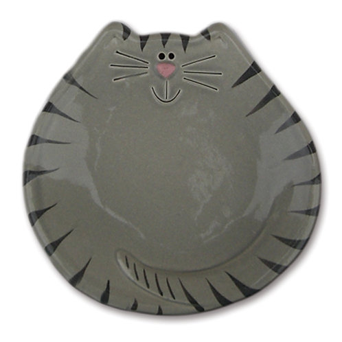 "5"" Cat Dish: Gray Tiger"