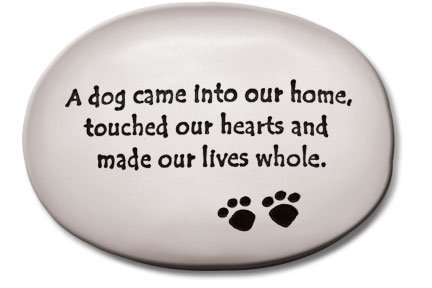 "3.5"" x 5"" x 1  ""A dog came into our home, touched our hearts and made our...."""