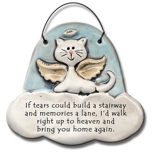 "3""x3"" Cat Memorial Ornament"