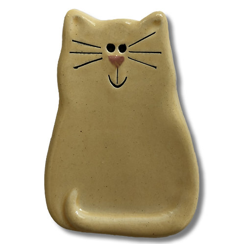 "3"" x 2"" Cat Magnet: Solid Yellow"
