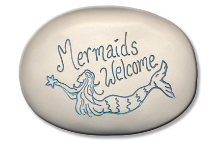 "3.5"" x 5"" x 1  ""Mermaids Welcome"""