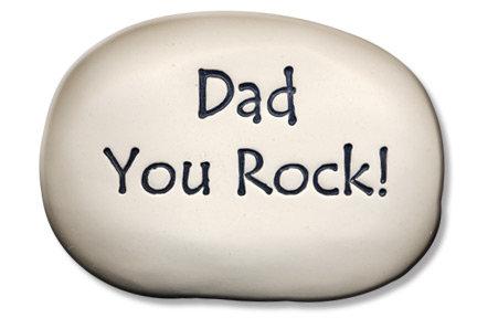 "3.5"" x 5"" x 1  ""Dad You Rock!"""