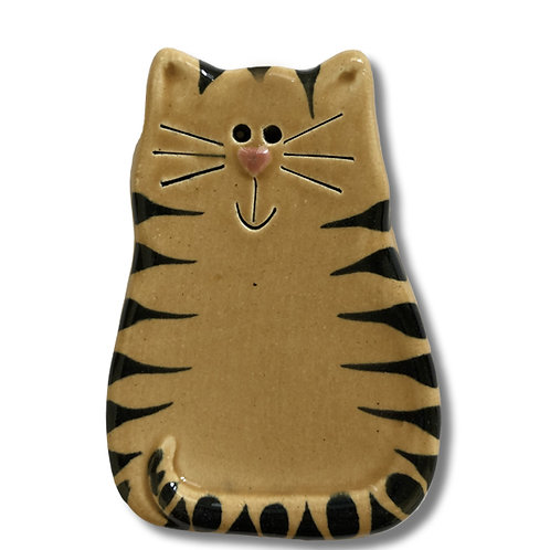 """3"""" x 2"""" Cat Magnet: Tan Tiger"""