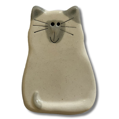 "3"" x 2"" Cat Magnet: White & Gray Siamese"