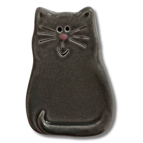 "3"" x 2"" Cat Magnet: Solid Gray"