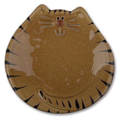 "5"" Cat Dish: Tan Tiger"