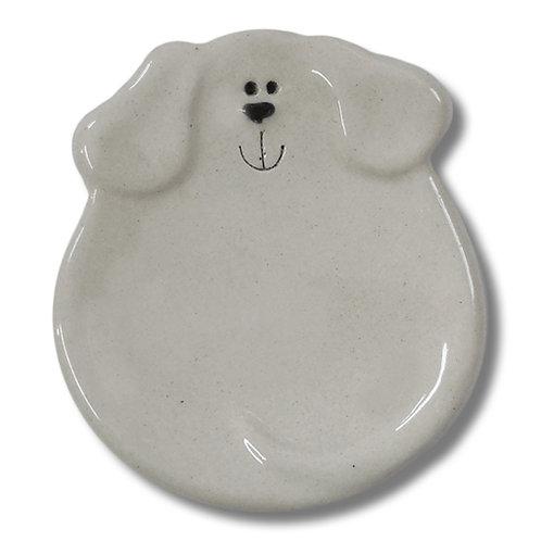 "3"" Mini Dog Dish: Solid White"