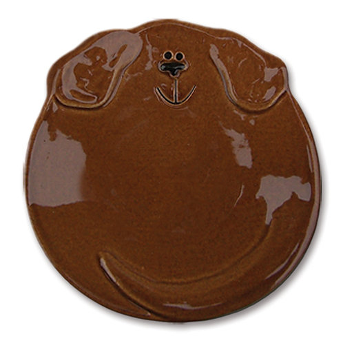 "5"" Dog Dish: Solid Dark Tan"