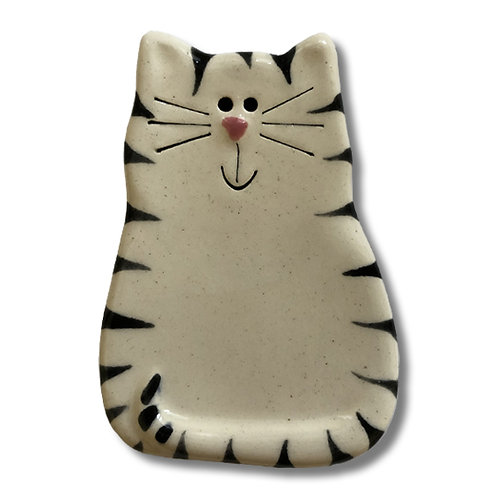 "3"" x 2"" Cat Magnet: White & Black Tiger"