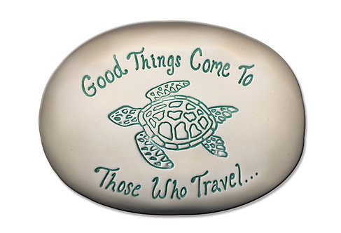 "3.5"" x 5"" x 1 ""Good things come to those who travel."""