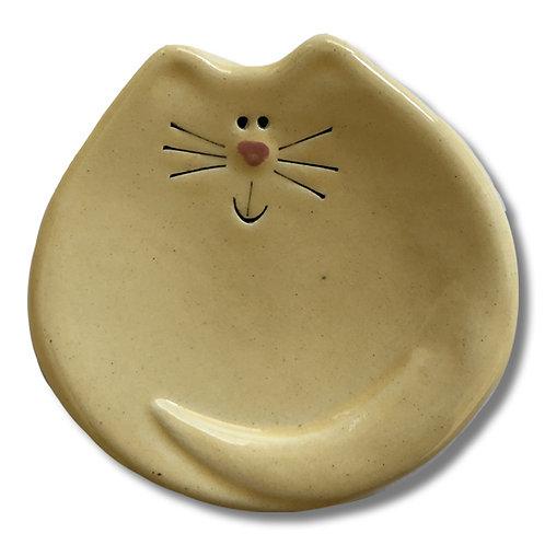 "3"" Mini Cat Dish: Solid Yellow"