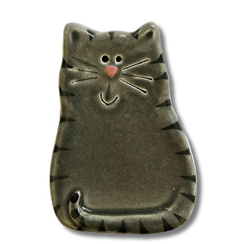 "3"" x 2"" Cat Magnet: Gray Tiger"
