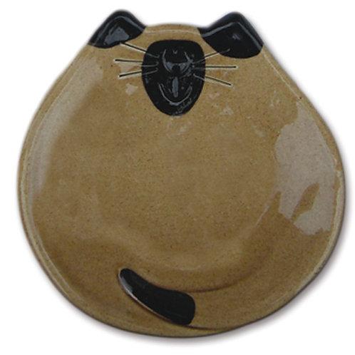 """5"""" Cat Dish: White Siamese"""