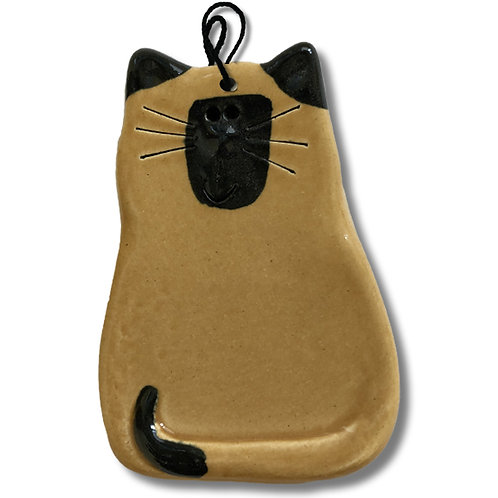 "3"" x 2"" Cat Ornament: Tan Siamese"