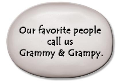 """3.5""""x5""""x1  """"Our favorite people call us Grammy & Grampy"""""""