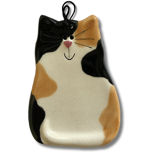 "3"" x 2"" Cat Ornament: Calico"