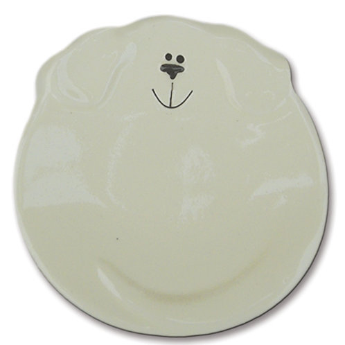 "5"" Dog Dish: Solid White"