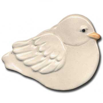 "3"" Mini White Dove dish"