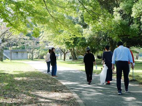 江津湖クリーン活動と、江津湖Living準備。