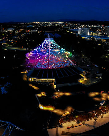 Spokane photographer, Miles Bergsma, flew his drone over the beautiful, new, and improved US Pavilion.
