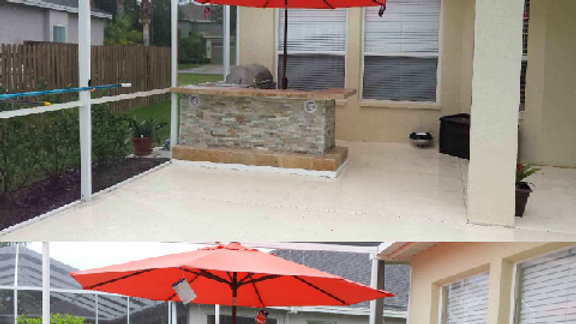 Naples 8x8 L-shaped outdoor kitchen