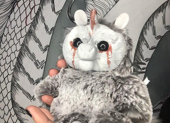 Blood unicorn art doll