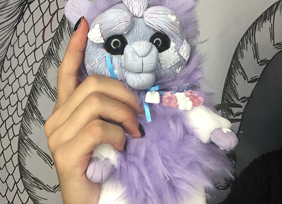 Purple bunny art doll