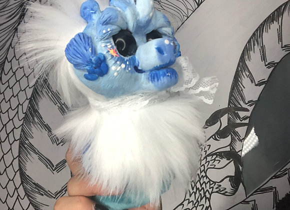Blue sea horse art doll