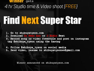 Shibuya tyson new show. Winner gets 4hr studio time & Video shoot