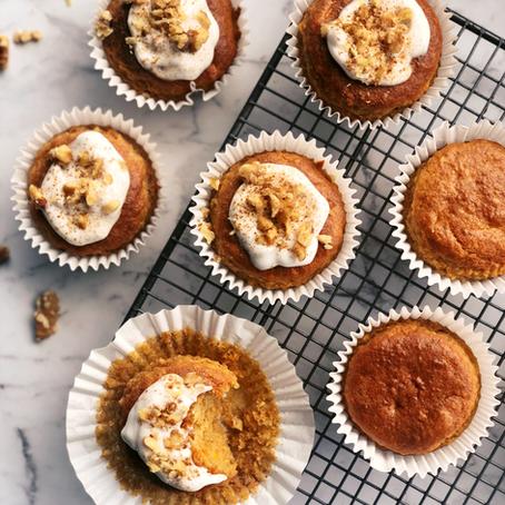 carrot + cinnamon muffins