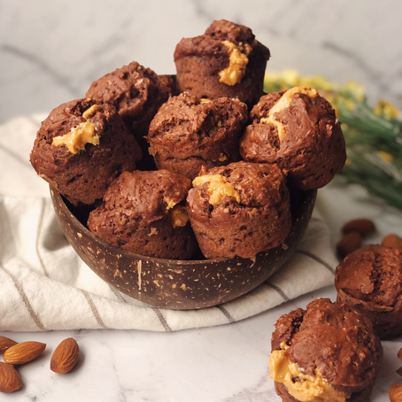 pb filled choc mini muffins