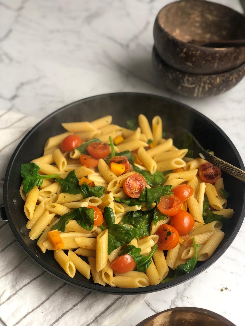 Pumpkin Mac n cheese pasta dish