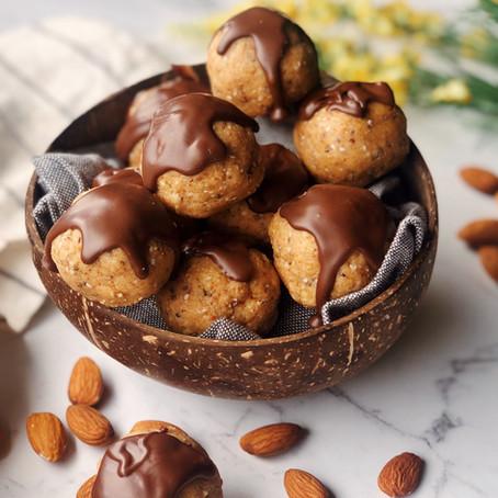 almond peanut butter balls