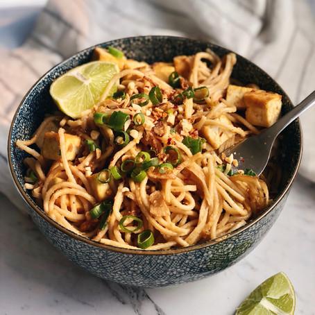 peanut satay noodles