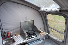 Slide-out kitchen