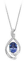 Tanzanite and Diamond Accented Pendant i