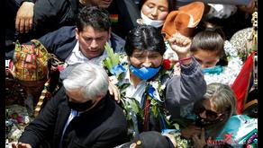 Evo Morales volta para a Bolívia após posse de presidente socialista