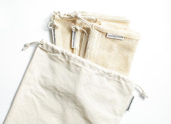 Cotton Produce Bags (Set of4)