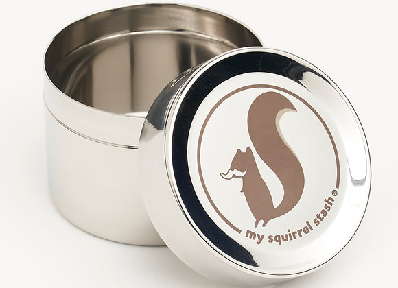 """My Squirrel Stash"" Small Stainless Container"