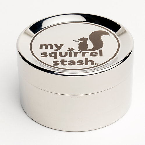 """My Squirrel Stash"" Large Stainless Container"