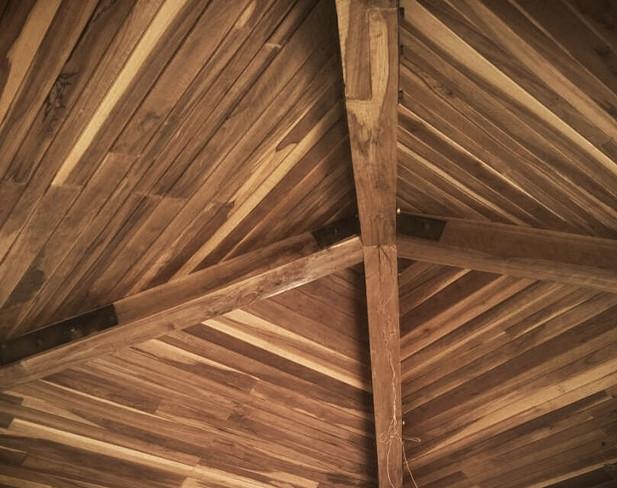 Interesting teak ceilings