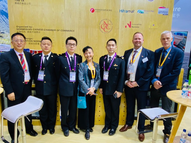 With Shanghai Customs officers