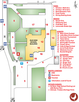 Versailles Poultry Days Event Map