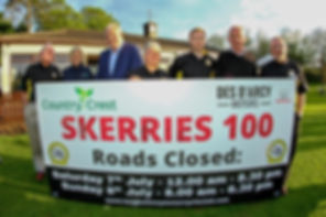 Country Crest, Des D'Arcy Motors and Loughshinny MCSC at Skerries 100 launch