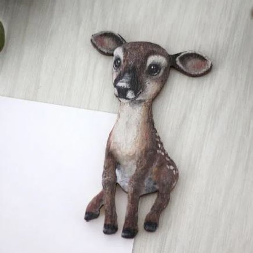 NENNI&FRIENDS White-tailed Deer refrigerator magnet
